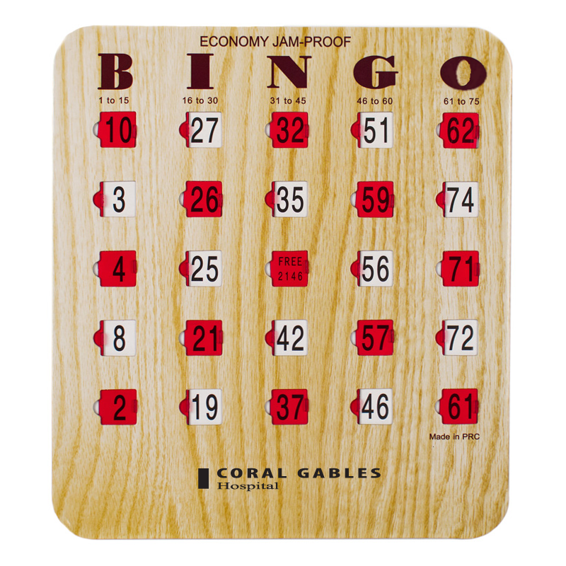 Bingo Shutter Cards Jam Proof