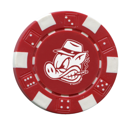 Custom Clay Poker Chip w/ Dice Design