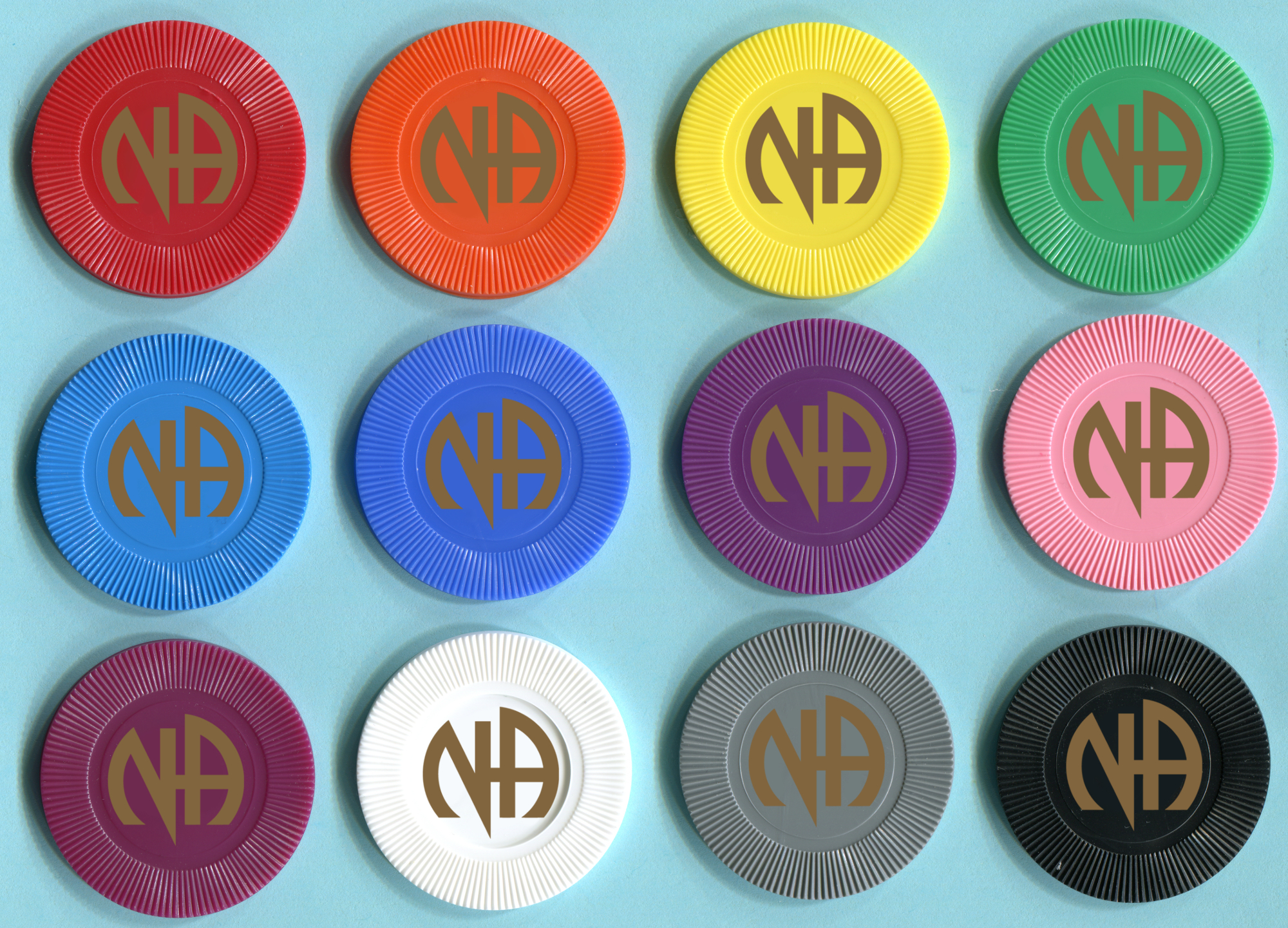 NA Plastic Poker Chips
