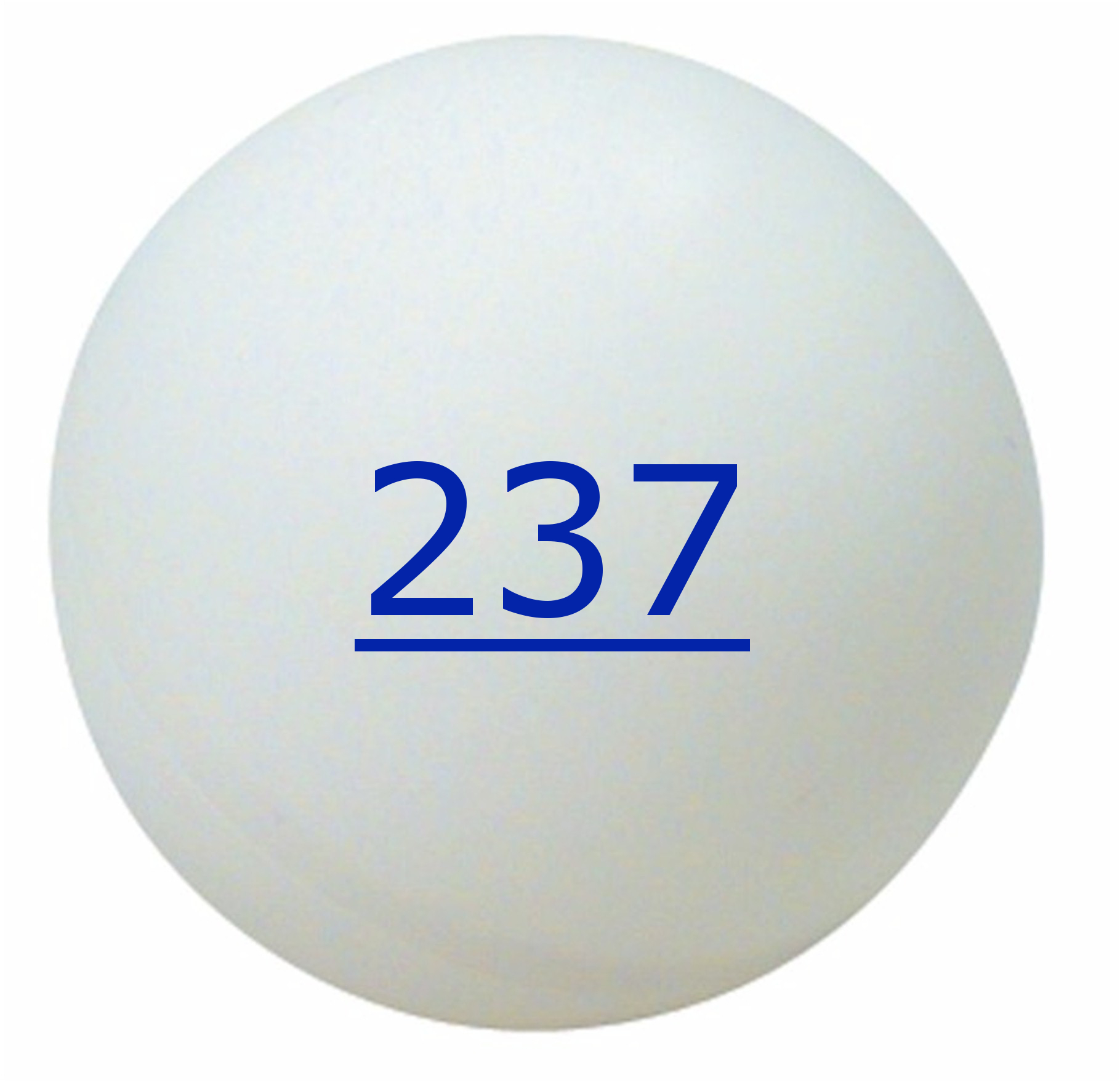Numbered Ping Pong Balls