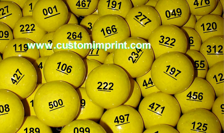 Numbered Wooden Balls