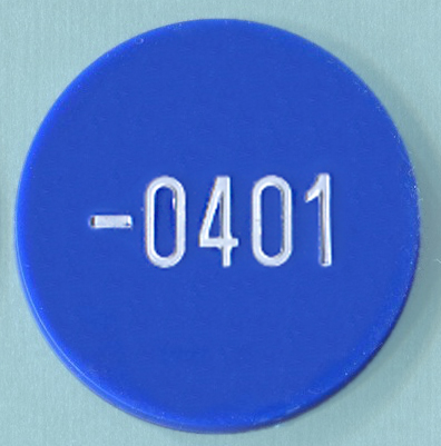 Numbered Plastic Tokens