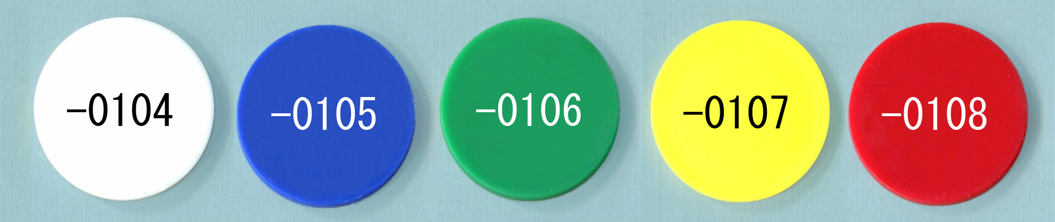 Numbered Plastic Poker Chips