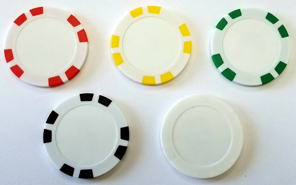 Personalized Eight Stripe Clay Poker Chip
